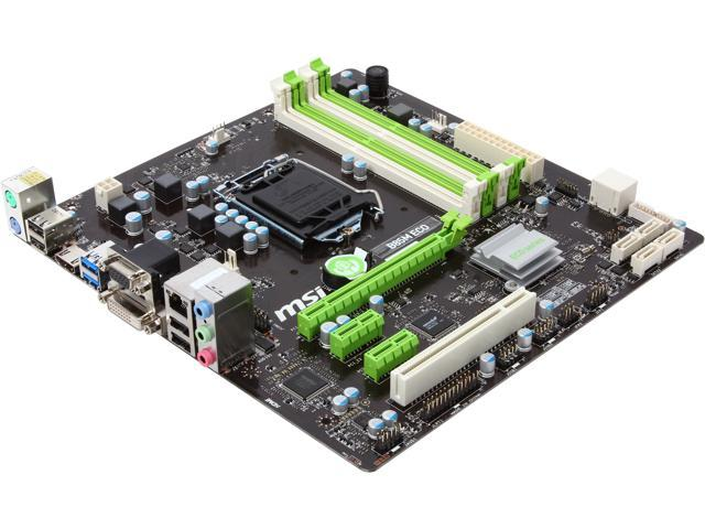 MSI B85M Eco LGA 1150 Intel B85 HDMI SATA 6Gb/s USB 3.0 Micro ATX Intel Motherboard
