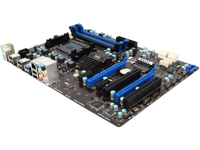 MSI 970A-G43 AM3+ AMD 970 + SB950 6 x SATA 6Gb/s ports by AMD SB950 - Supports storage and data transfers at up to 6Gb/s ...