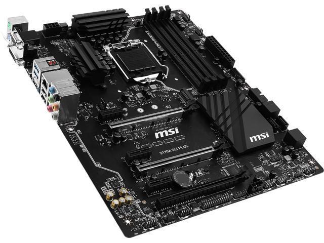 MSI Z170A SLI Plus LGA 1151 Intel Z170 HDMI SATA 6Gb/s USB 3.1 ATX Intel Motherboard