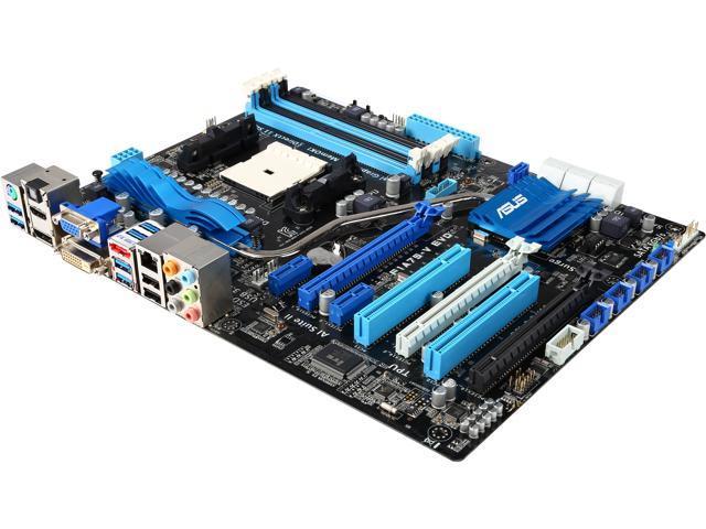 ASUS F1A75-V EVO-R FM1 AMD A75 (Hudson D3) HDMI SATA 6Gb/s USB 3.0 ATX AMD Motherboard with UEFI BIOS