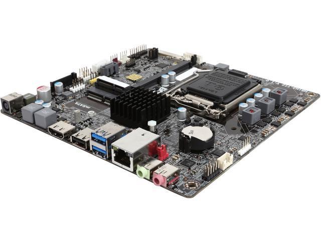 ECS H81H3-TI2 LGA 1150 Intel H81 HDMI SATA 6Gb/s USB 3.0 Thin Mini-ITX Intel Motherboard