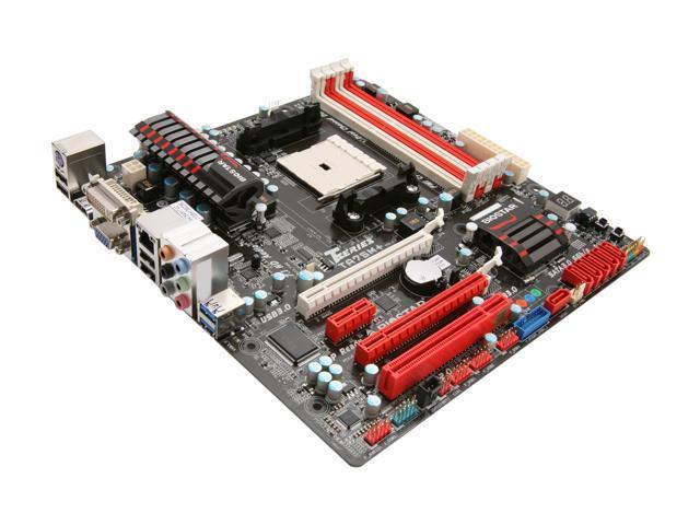 BIOSTAR TA75M+ FM1 AMD A75 (Hudson D3) HDMI SATA 6Gb/s USB 3.0 Micro ATX AMD Motherboard
