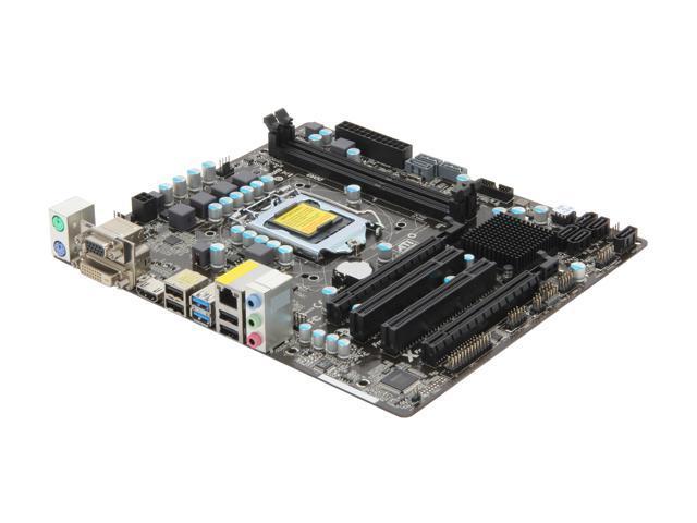 ASRock B75M R2.0 LGA 1155 Intel B75 HDMI SATA 6Gb/s USB 3.0 Micro ATX Intel Motherboard with UEFI BIOS