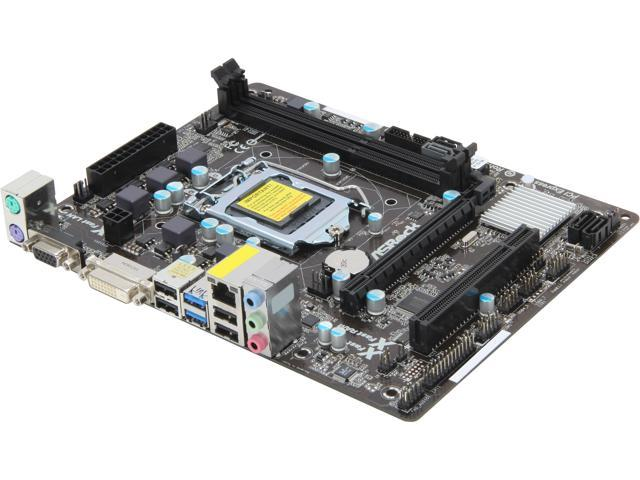 ASRock B75M-DGS R2.0 LGA 1155 Intel B75 SATA 6Gb/s USB 3.0 Micro ATX Intel Motherboard