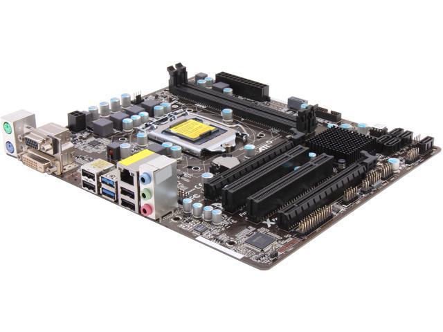 ASRock B75M-GL R2.0 LGA 1155 Intel B75 SATA 6Gb/s USB 3.0 Micro ATX Intel Motherboard with UEFI BIOS