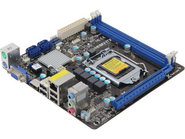 ASRock H61MV-ITX LGA 1155 Intel H61 HDMI Mini ITX Intel Motherboard