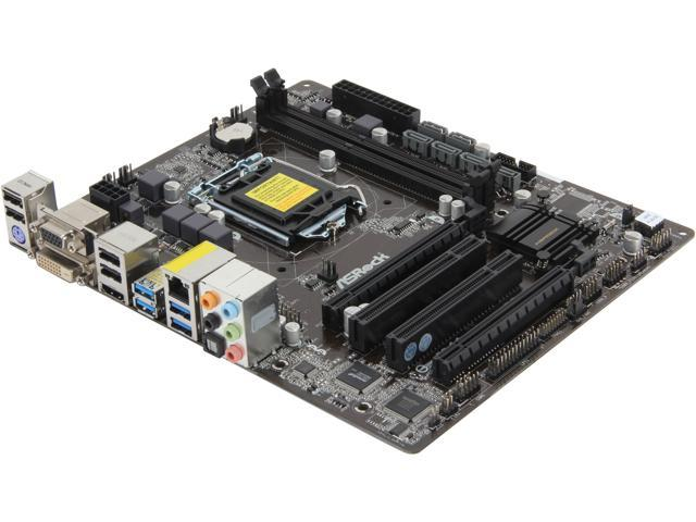 ASRock H87M LGA 1150 Intel H87 HDMI SATA 6Gb/s USB 3.0 Micro ATX Intel Motherboard