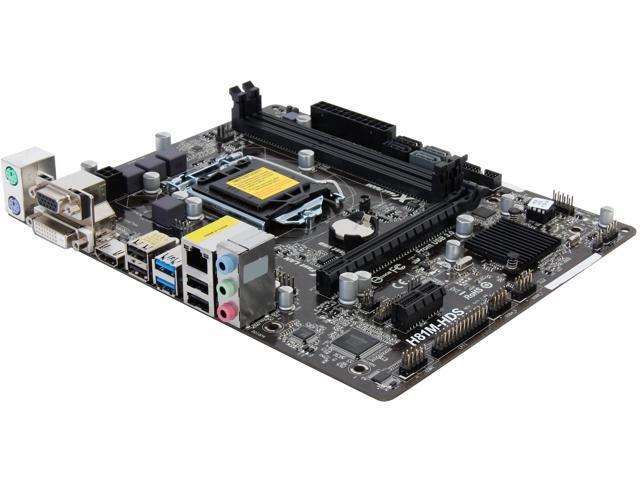 ASRock H81M-HDS LGA 1150 Intel H81 HDMI SATA 6Gb/s USB 3.0 Micro ATX Intel Motherboard