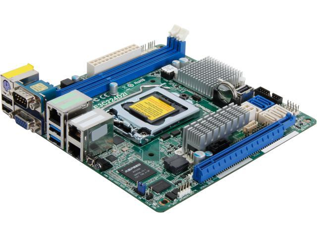 ASRock E3C224D2I Mini ITX Server Motherboard LGA 1150 Intel C224 DDR3 1600/1333