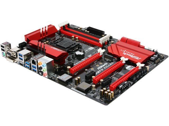 ASRock Fatal1ty Z97X Killer LGA 1150 Intel Z97 HDMI SATA 6Gb/s USB 3.0 ATX Intel Motherboard