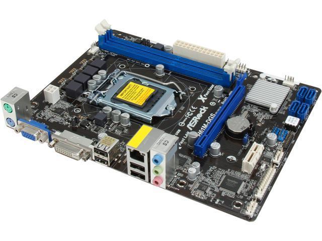 ASRock H61M-DGS R2.0 LGA 1155 Intel H61 Micro ATX Intel Motherboard