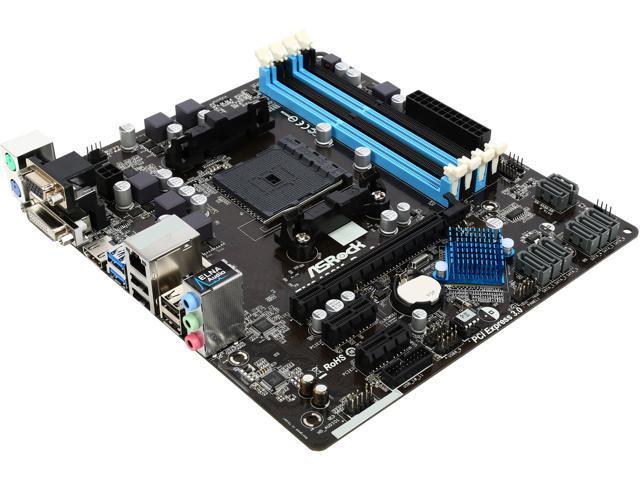 ASRock FM2A88M PRO3+ Socket FM2+ 95W / FM2 100W AMD A88X (Bolton D4) HDMI SATA 6Gb/s USB 3.0 Micro ATX AMD Motherboard