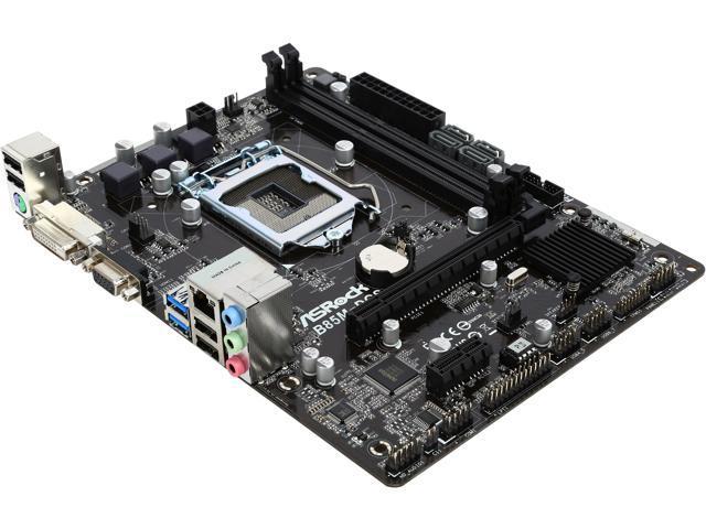 ASRock B85M-DGS LGA 1150 Intel B85 SATA 6Gb/s USB 3.0 Micro ATX Intel Motherboard
