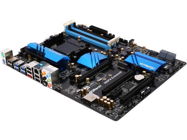 ASRock 990FX Extreme6 AM3+ Northbridge: AMD 990FX Southbridge: AMD SB950 5 x SATA 6Gb/s USB 3.0 ATX AMD Motherboard