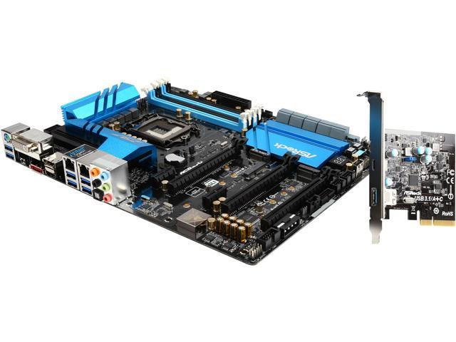 ASRock Z97 Extreme6/3.1 LGA 1150 Intel Z97 HDMI SATA 6Gb/s USB 3.1 USB 3.0 ATX Intel Motherboard