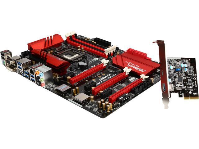ASRock Fatal1ty Z97X Killer/3.1 LGA 1150 Intel Z97 HDMI SATA 6Gb/s USB 3.1 USB 3.0 ATX Intel Motherboard