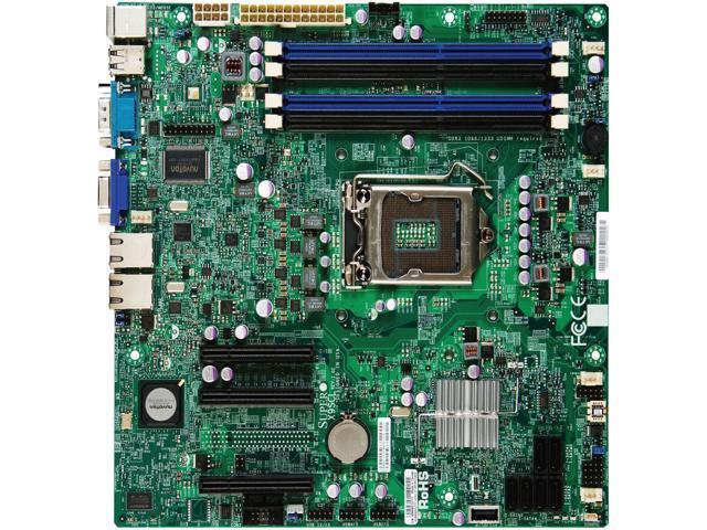 Supermicro X9SCL Desktop Motherboard - Intel C202 Chipset - Socket H2 LGA-1155 - Bulk Pack