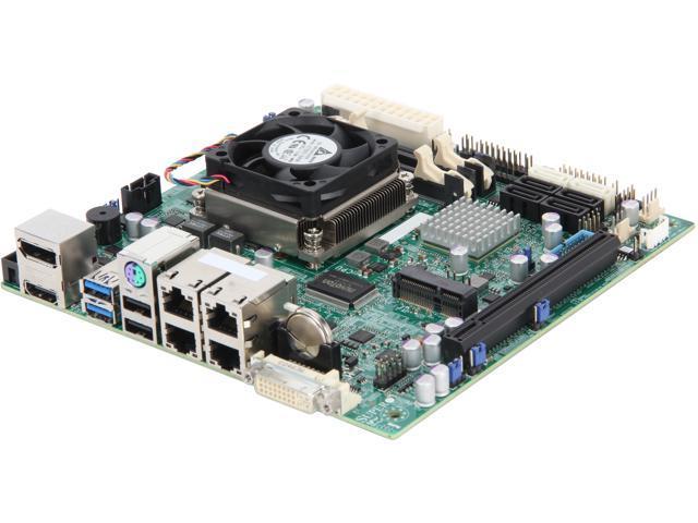 SUPERMICRO MBD-X9SPV-M4-3UE-O Mini ITX Server Motherboard FCBGA1023 Intel QM77 DDR3 1600/1333