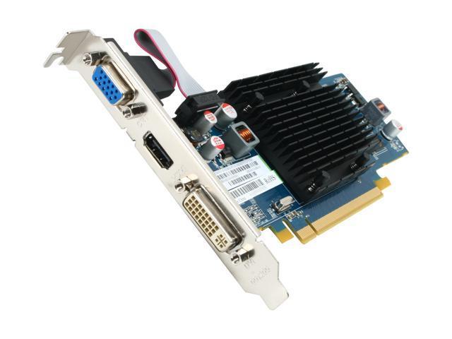 SAPPHIRE 100292L Radeon HD 5450 (Cedar) 1GB 64-Bit DDR2 PCI Express 2.1 x16 HDCP Ready CrossFireX Support Low Profile Ready Video Card