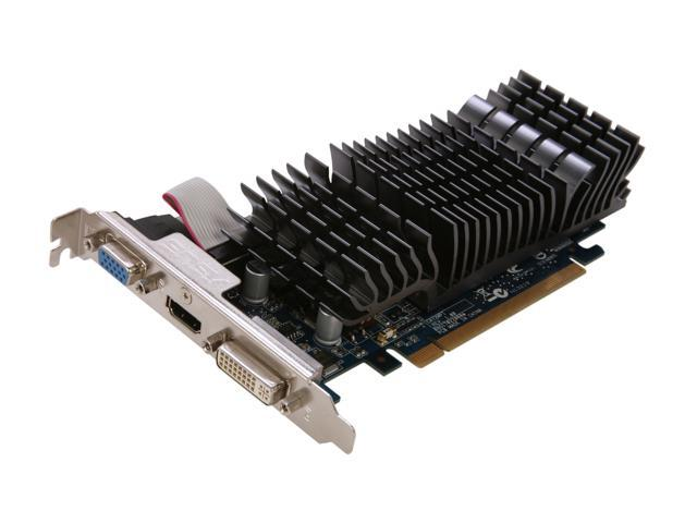ASUS EN210 SILENT/DI/1GD3/V2(LP) GeForce 210 1GB 64-Bit DDR3 PCI Express 2.0 x16 Low Profile Ready Video Card Manufactured Recertified