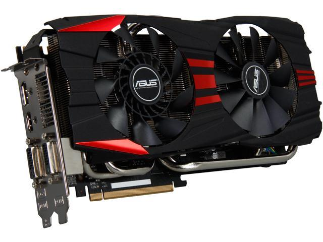 ASUS R9280X-DC2T-3GD5 Radeon R9 280X 3GB 384-Bit GDDR5 PCI Express 3.0 HDCP Ready CrossFireX Support Video Card