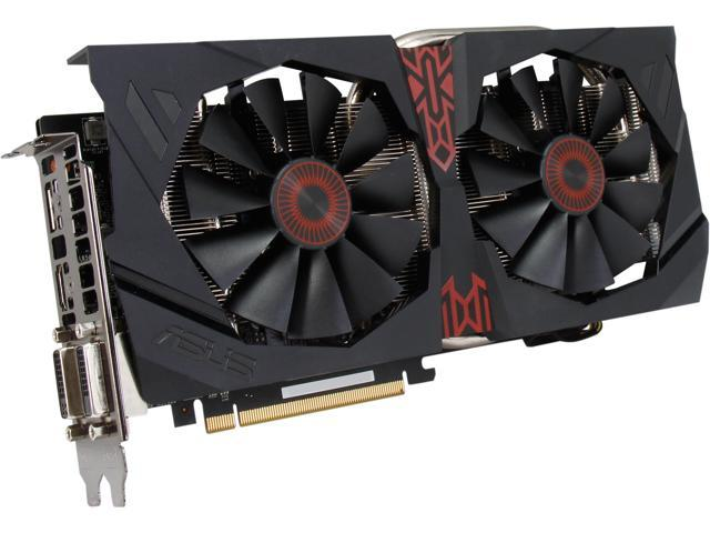 ASUS STRIX-R9285DC2OC2GD5 Radeon R9 285 2GB 384-Bit GDDR5 PCI Express 3.0 HDCP Ready CrossFireX Support Video Card