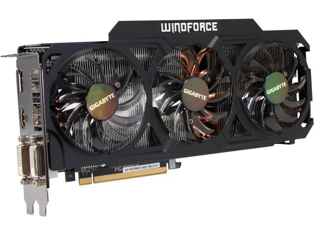 GIGABYTE Radeon R9 290 DirectX 11.2 GV-R929WF3-4GD Video Card