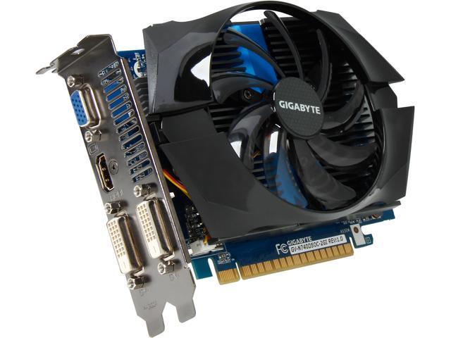 GIGABYTE GV-N740D5OC-2GI GeForce GT 740 2GB 128-Bit GDDR5 PCI Express 3.0 HDCP Ready Video Card