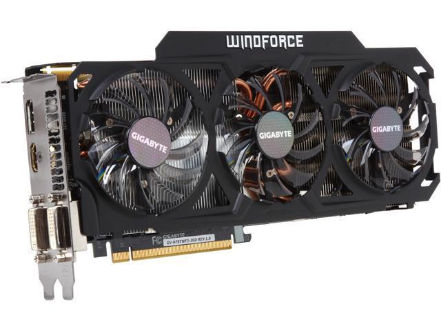 GIGABYTE GV-N78TWF3-3GD G-SYNC Support GeForce GTX 780 Ti 3GB 384-Bit GDDR5 PCI Express 3.0 HDCP Ready Video Card