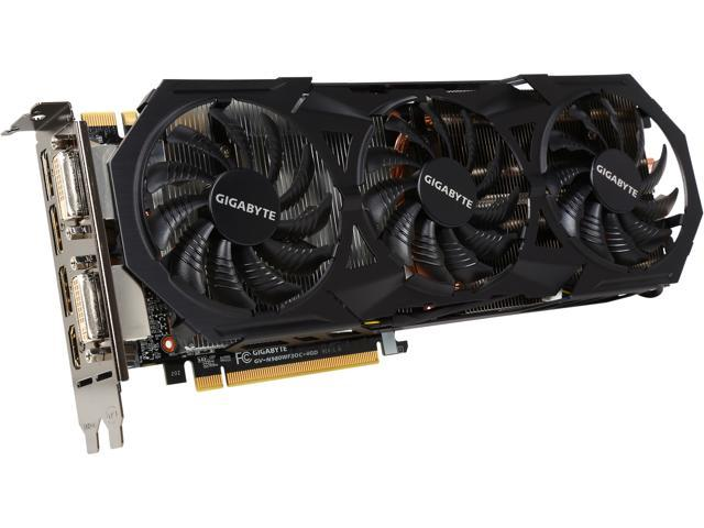 GIGABYTE GV-N980WF3OC-4GD GeForce GTX 980 4GB 256-Bit DDR5 PCI Express 3.0 WINDFORCE 3X GAMING Graphics Card