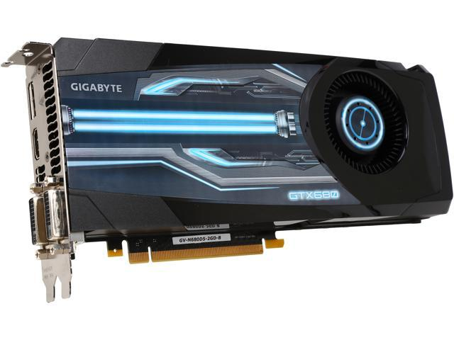 GIGABYTE GV-N680D5-2GD-B GeForce GTX 680 2GB 256-Bit GDDR5 PCI Express 3.0 x16 HDCP Ready SLI Support Video Card