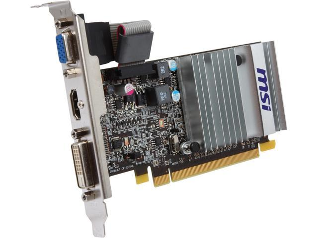 MSI R5450-MD1GD3H/LP Radeon HD 5450 1GB 64-Bit DDR3 PCI Express 2.1 x16 HDCP Ready Low Profile Video Card