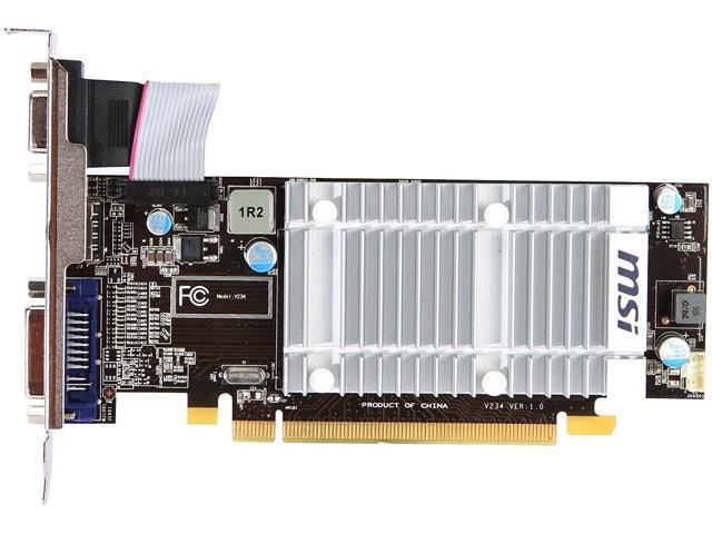 MSI R5450-MD1GD3H/LP Radeon HD 5450 1GB 64-Bit DDR3 PCI Express 2.0 x16 HDCP Ready Low Profile Video Card