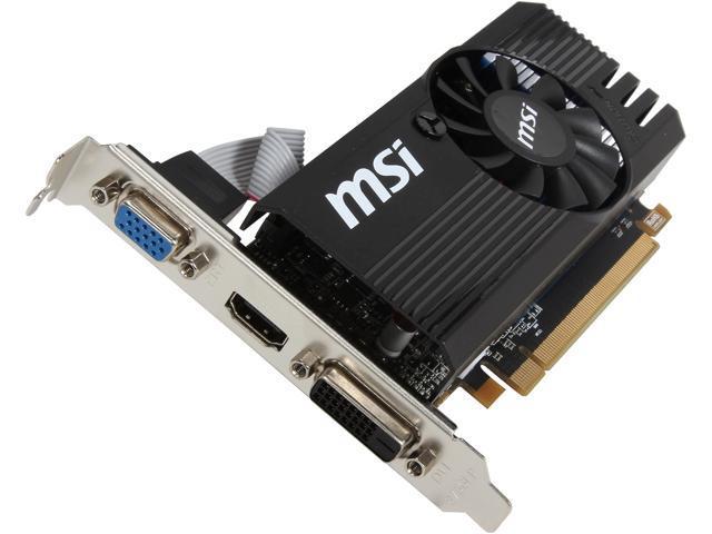 MSI R7 240 2GD3 LP Radeon R7 240 2GB PCI Express 3.0 x16 Video Card