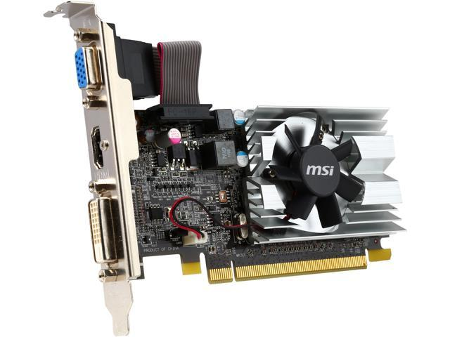 MSI R6450-MD1GD3/LP-R Radeon HD 6450 1GB 64-Bit DDR3 PCI Express 2.1 x16 HDCP Ready Low Profile Ready Video Card