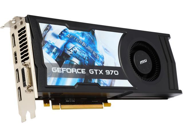 MSI G-SYNC Support GeForce GTX 970 4GD5 OC Video Card (Mail In Rebate $10.0 Expires 01/31/15) (Mail In Rebate $10.00 Expires 01/01/1753)