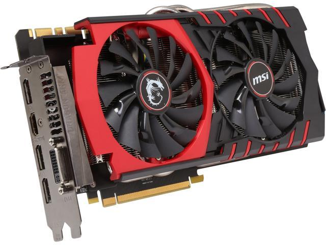 MSI GTX 980 GAMING 4G LE GeForce GTX 980 4GB 256-Bit GDDR5 HDCP Ready SLI Support ATX Video Card (Mail In Rebate $20.0 Expires 07/20/15) ...