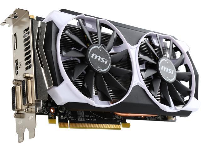 MSI R7 370 2GD5T OC Radeon R7 370 2GB 256-Bit GDDR5 HDCP Ready CrossFireX Support ATX Video Card