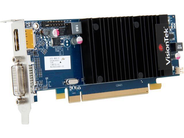VisionTek 900320 Radeon HD 5450 1GB 64-Bit DDR3 PCI Express 2.1 x16 HDCP Ready Low Profile Ready Video Card