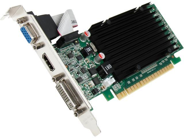 EVGA 01G-P3-1313-KR GeForce 210 1GB 64-Bit DDR3 PCI Express 2.0 x16 HDCP Ready Low Profile Ready Video Card