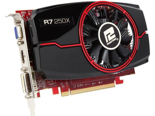 PowerColor AXR7 250X 1GBD5-HE Radeon R7 250X 1GB 128-Bit GDDR5 PCI Express 3.0 HDCP Ready CrossFireX Support Video Card