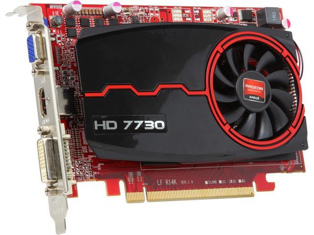 PowerColor AX7730 2GBK3-HE Radeon HD 7730 2GB 128-Bit DDR3 PCI Express 3.0 HDCP Ready CrossFireX Support Video Card (UEFI READY)