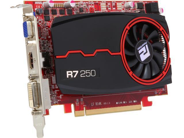 PowerColor AXR7 250 2GBK3-HE Radeon R7 250 2GB 128-Bit DDR3 PCI Express 3.0 Video Card