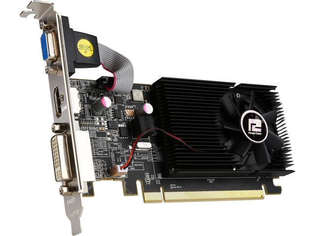 PowerColor AXR7 240 2GBK3-HLE Radeon R7 240 2GB 64-Bit DDR3 PCI Express 3.0 CrossFireX Support Low Profile Video Card Factory Refurbished