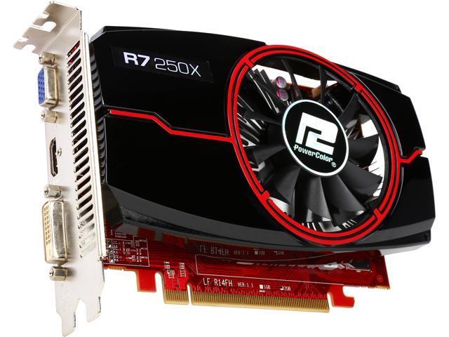 PowerColor AXR7 250X 2GBD5-HE Radeon R7 250X 2GB 128-Bit GDDR5 PCI Express 3.0 CrossFireX Support ATX Video Card