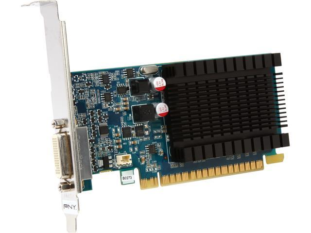 PNY Commercial Series VCG84DMS1D3SXPB-CG GeForce 8400 GS 1GB 64-Bit DDR3 PCI Express 2.0 x16 Low Profile Video Card