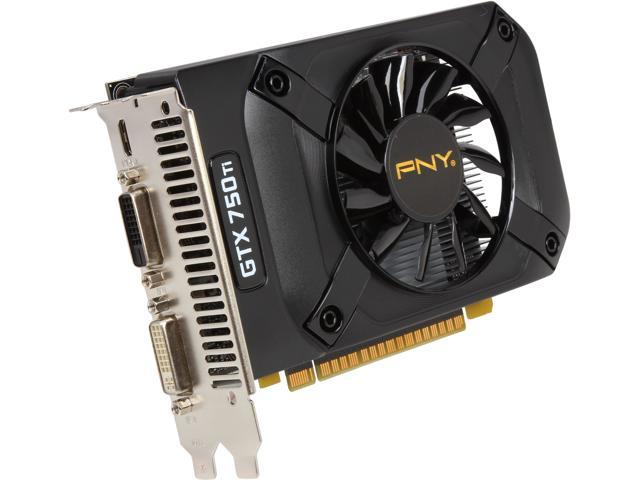 PNY VCGGTX750T2XPB GeForce GTX 750 Ti 2GB 128-Bit GDDR5 PCI Express 3.0 x16 Video Card