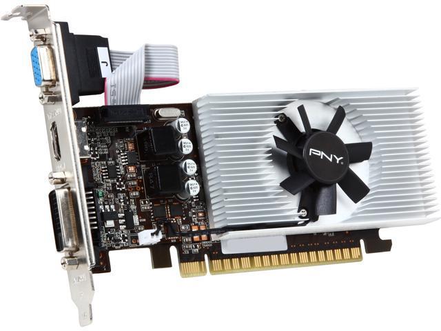 PNY VCGGT7301D5LXPB GeForce GT 730 1GB 64-Bit GDDR5 PCI Express 2.0 Low Profile Ready Video Card