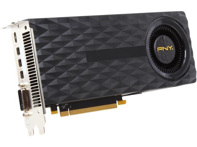 PNY VCGGTX9704XPB GeForce GTX 970 4GB 256-Bit GDDR5 PCI Express 3.0 x16 SLI Support Video Card (G-SYNC Support)