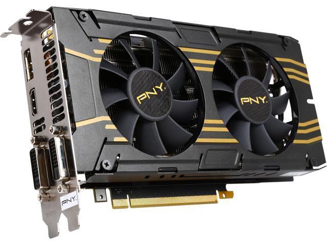 PNY RVCGGTX7602XXB-OC GeForce GTX 760 2GB 256-Bit GDDR5 PCI Express 3.0 x16 SLI Support Graphics Card